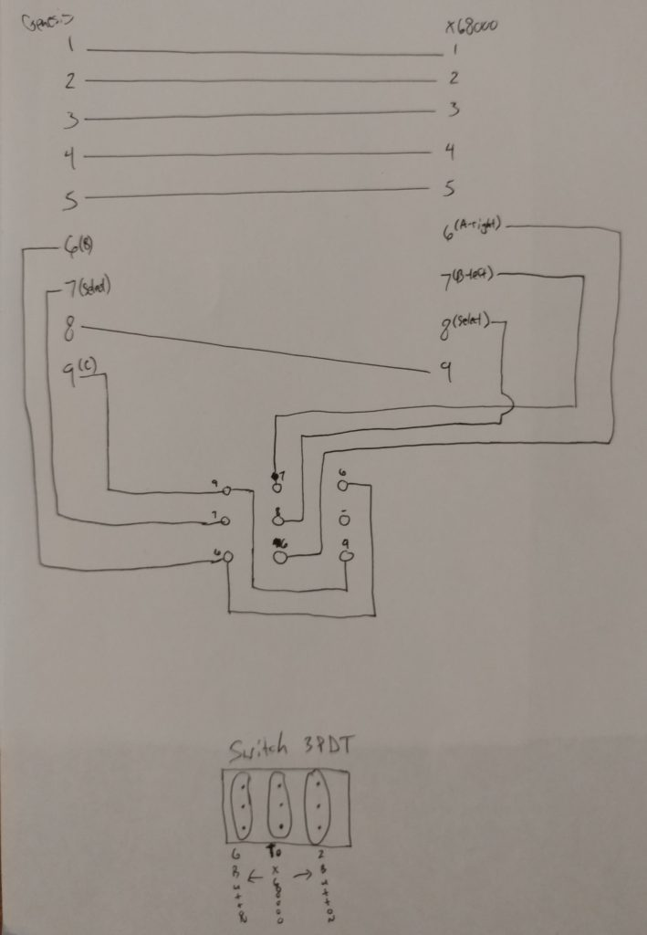 x68000 Adapter Schematic